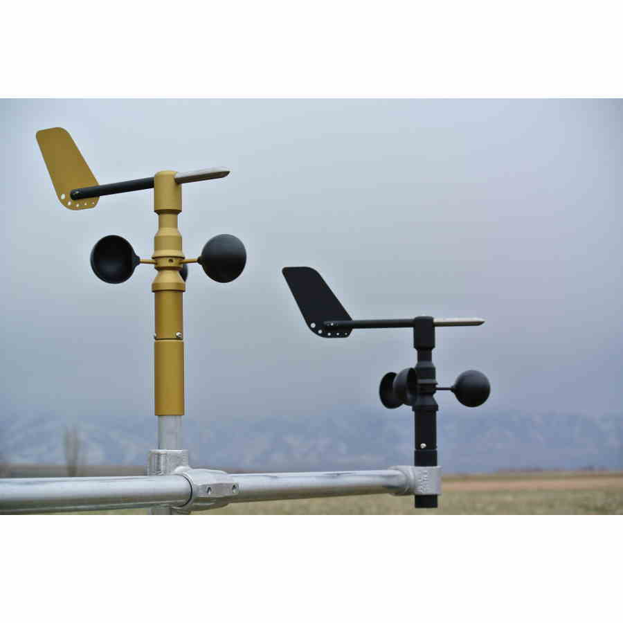 Gold and Black Wind Sensors