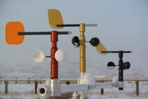Three wind sensor variants.