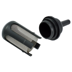 Disassembled funnel outlet