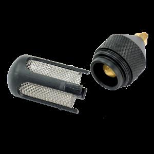 Rain gauge siphon flow control.