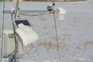 Snow accumulation melts off a bit.