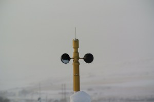 WSD-1 head on w/ snow.