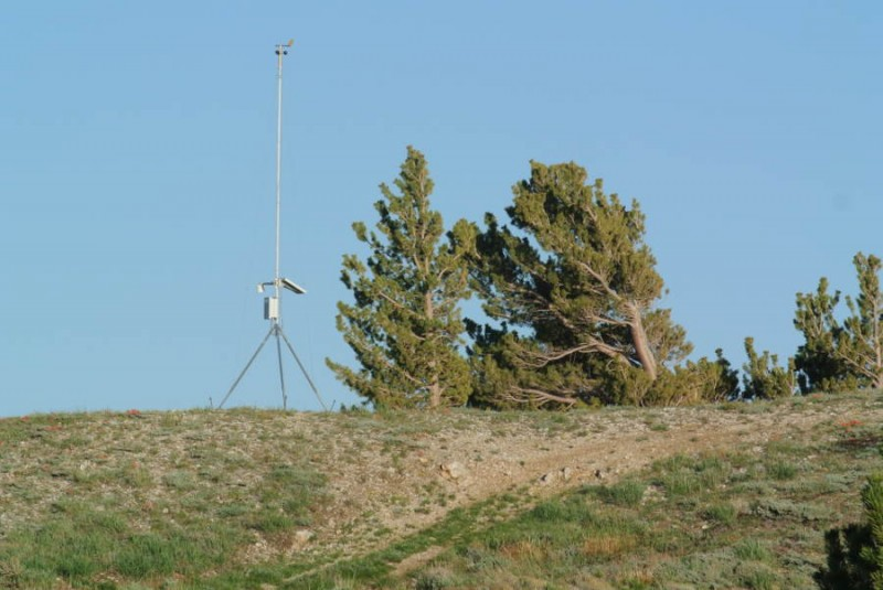 Weather station on Willard peak.