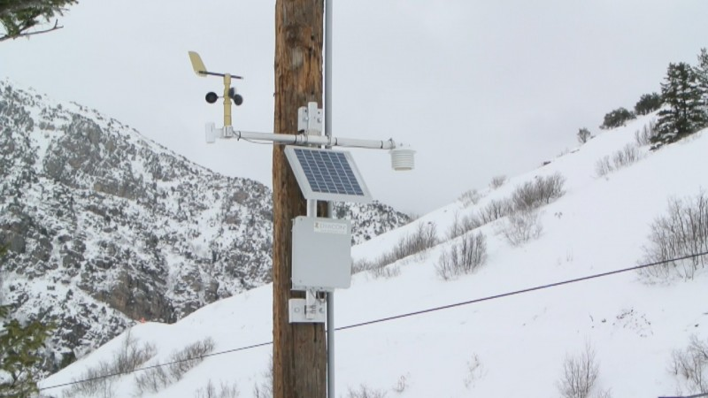Cherry Peak Weather Station Mounted