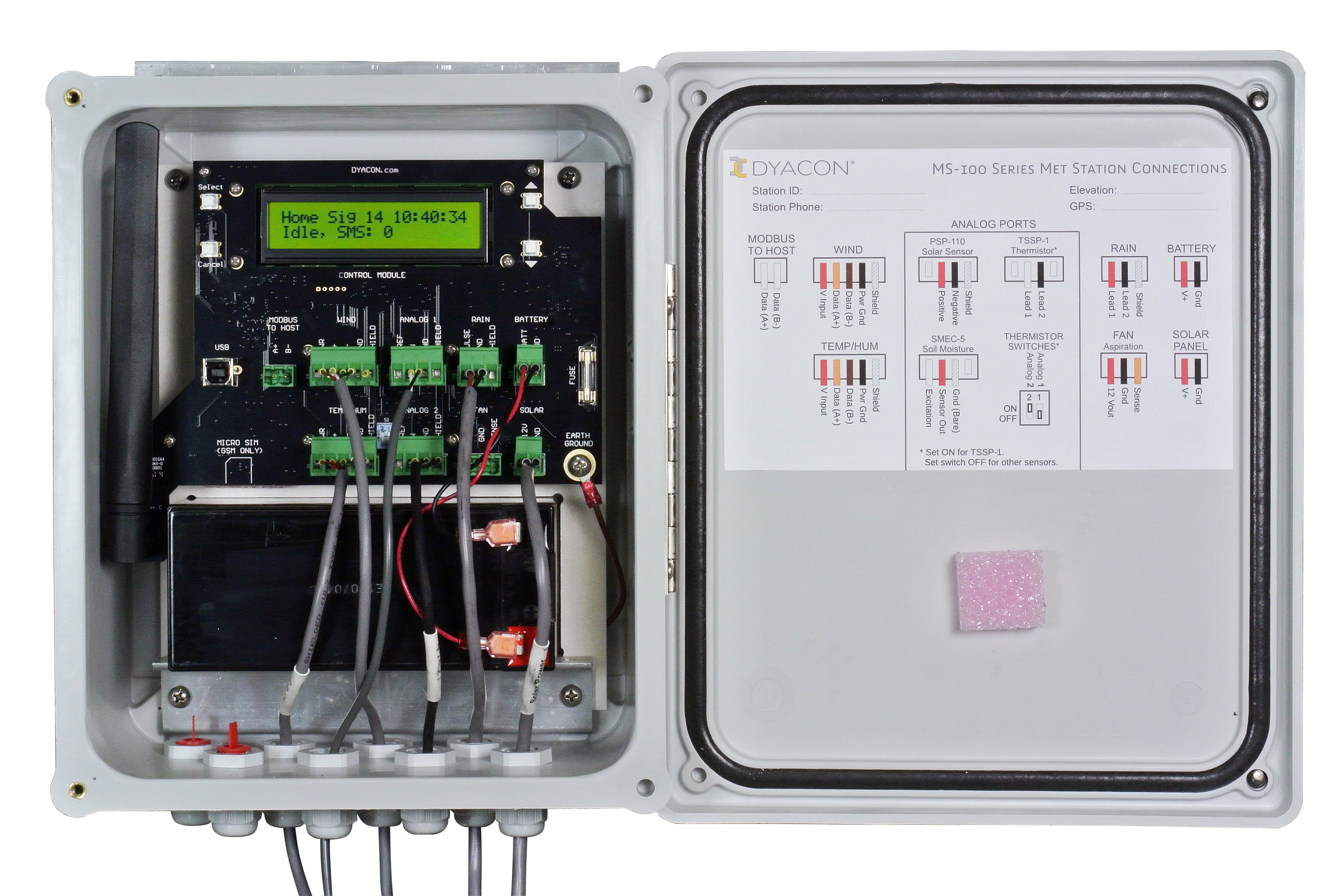 Automated Weather Station control module