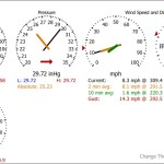Weather Station Display, Light Theme